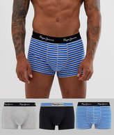 Mens Pepe Jeans Short Edson Trunk 3 pack-Multi