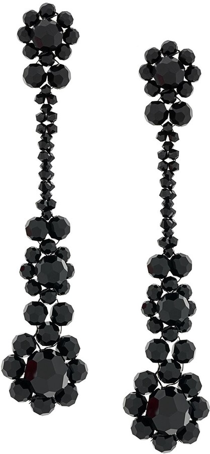 Simone Rocha Crystal Beaded Drop Earrings