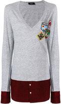 DSQUARED2 contrast hem sweater - women - Cotton/Viscose/Virgin Wool - XXS
