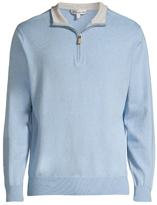 Peter Millar Crown Zip-Neck Pullover