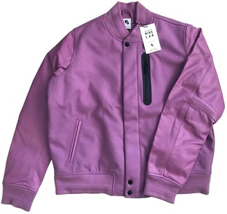 Nike Pink Leather Leather jackets