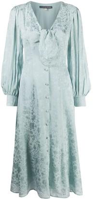 ALEXACHUNG Floral Shirt Dress