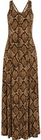 MICHAEL Michael Kors Printed Stretch-Satin Jersey Maxi Dress