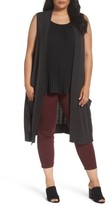 Sejour Plus Size Women's Long Sweater Vest