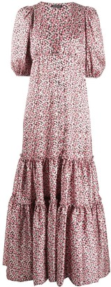 Wandering Floral-Print Tiered Dress