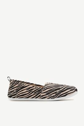 Ardene Canvas Slip-On Zebra Stripes Sneakers