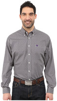 Cinch Long Sleeve Plain Weave Print Shirt