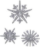 INC International Concepts Silver-Tone 3-Pc. Set Star Pins, Created for Macy's