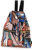 Marni Abstract-Print Drawstring Backpack