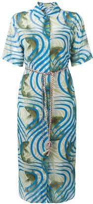 Odeeh Koi fish print shirt dress