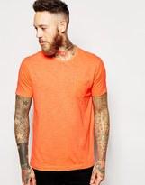 Ymc T-shirt With Pocket In Neon Orange - Orange