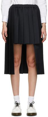 Comme des Garçons Comme des Garçons Navy Asymmetrical Midi Skirt