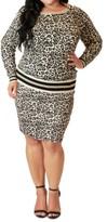 Maree Pour Toi Plus Size Animal Print Sweater