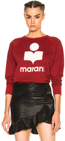 Etoile Isabel Marant Milly Marant Crewneck Sweatshirt in Red.