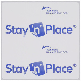 N. Mohawk Stay N' Place Non Slip Rug Tabs, White, 0'4x0'4