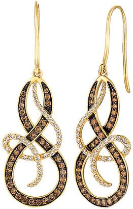 LeVian Le Vian 14K 1.65 Ct. Tw. Brown & White Diamond Drop Earrings