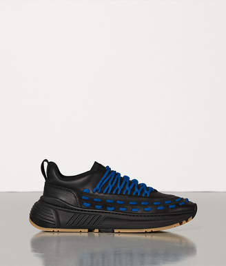 Bottega Veneta LACE SPEEDSTER SNEAKERS IN STORM CUIR