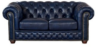 Forsyth Leather Chesterfield Loveseat Trent Austin Design