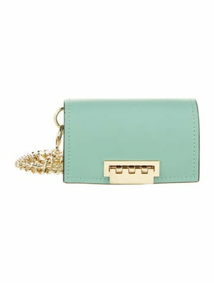 ZAC Zac Posen Leather Mini Crossbody Bag Green
