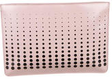 Alaia Laser Cut Leather Clutch w/ Tags