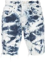 Purple Brand tie-dye print multi-pocket shorts
