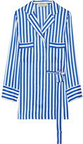 By Malene Birger Lanfi Striped Satin Blouse - Blue