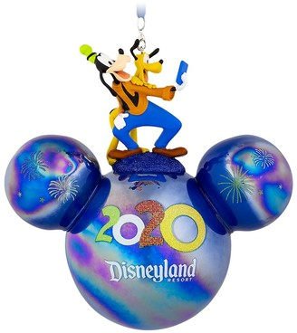 Disney Mickey Mouse Icon Ball Ornament with Goofy and Pluto Figures Disneyland 2020