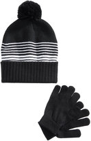 Berkshire 2-Pc. Striped Hat and Gloves Set, Little Boys (2-7) and Big Boys (8-20)