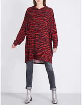 Maison Margiela Leopard-print jersey dress