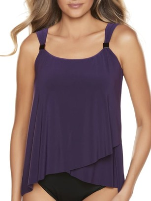 Miraclesuit Solid Dazzle Underwire Tankini Top