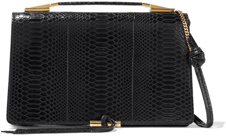 Stella McCartney Flo Medium Python-effect Faux Leather Shoulder Bag