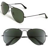 Ray-Ban 'Original Aviator' 58mm Polarized Sunglasses