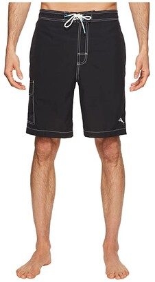 Tommy Bahama Baja Beach Swim Trunk (Black) Men's Swimwear