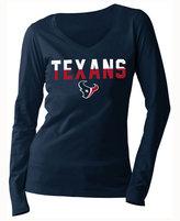 5th & Ocean Women's Houston Texans Huddle LE Long Sleeve T-Shirt