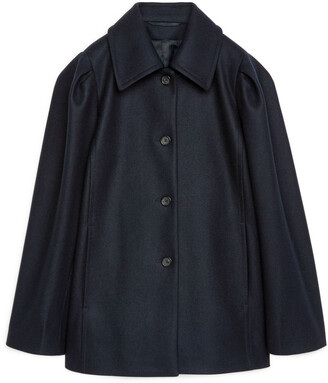 Arket Puff Sleeve Melton Jacket