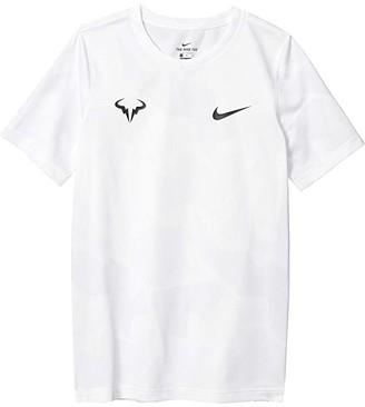 Nike Kids Court Dri-FITtm Rafa T-Shirt (Big Kids) (White/Pure Platinum/Black) Boy's T Shirt