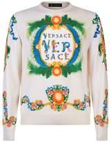 Versace Garden Print Silk Sweater