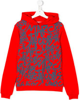 Little Marc Jacobs logo graffiti print hoodie