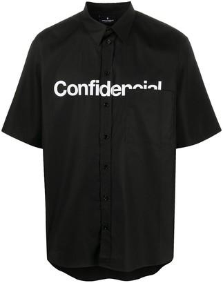 Marcelo Burlon County of Milan Confidential-print short sleeved shirt