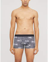 Moschino Logo-print stretch-cotton trunks