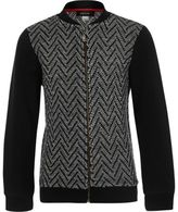 River Island Boys black zig zag knit bomber jacket
