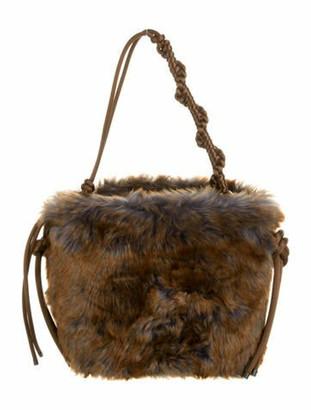 Dries Van Noten Faux fur Bucket Bag w/ Tags Brown