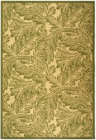 Safavieh Courtyard Collection CY2996-1E01 Natural and Olive Indoor/ Outdoor Area Rug, 8 feet by 11 feet (8' x 11')