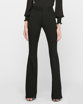 Express High Waisted Stretch Flare Pants