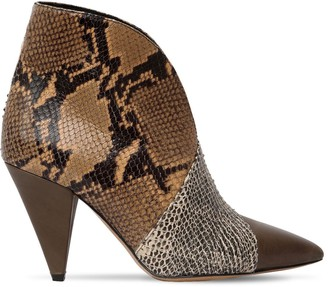 Isabel Marant 90mm Archenn Snake Printed Leather Boots