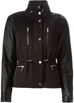 MICHAEL Michael Kors leather sleeve padded jacket