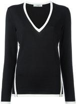 Lanvin contrast piped trim jumper - women - Wool - XS