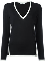 Lanvin contrast piped trim jumper