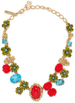 Oscar de la Renta Gold-plated, Swarovski Crystal And Resin Necklace - one size