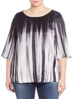 Marina Rinaldi, Plus Size Ombre Silk Top